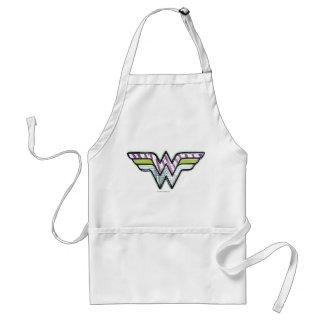 Wonder Logo van de Schets van de Vrouw het Kleurri Standaard Schort