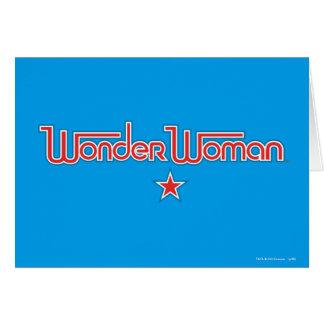 Wonder Logo van de Ster van de Vrouw het Rode en Wenskaart