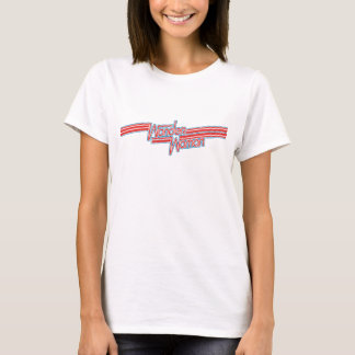 Wonder Logo van de Streep van de Vrouw het Rode en T Shirt