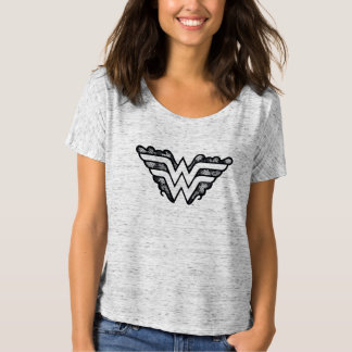 Wonder Logo van het Kant van de Vrouw het Zwarte T Shirt