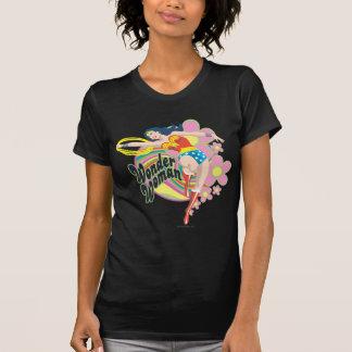 Wonder Retro Bloemen van de Vrouw T Shirt