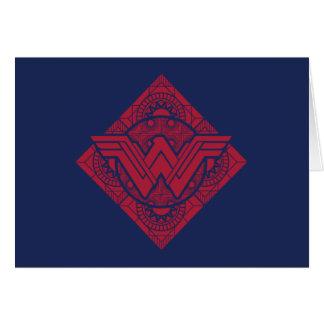 Wonder Symbool het Uit de Amazone van de Vrouw Briefkaarten 0