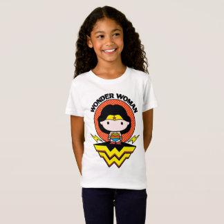 Wonder van Chibi Vrouw met Stippen en Logo T Shirt