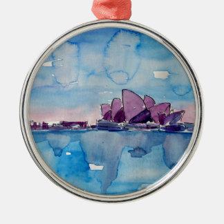Wonder van Downunder Sydney Zilverkleurig Rond Ornament