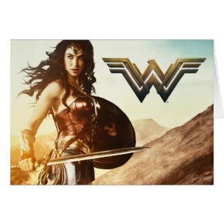 Wonder Vrouw bij Zonsondergang Briefkaarten 0