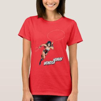 Wonder Vrouw die met Lasso lopen T Shirt