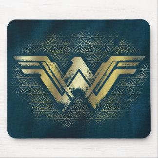 Wonder Vrouw Geborsteld Gouden Symbool Muismatten