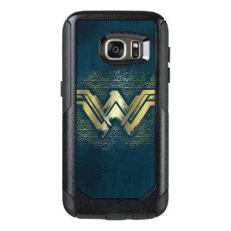 Wonder Vrouw Geborsteld Gouden Symbool OtterBox Samsung Galaxy S7 Hoesje