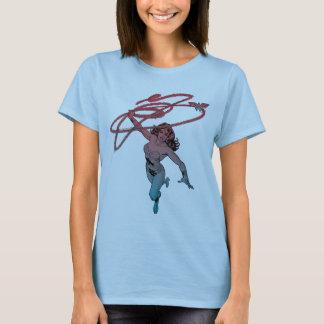 Wonder Vrouw met Art. van de Lijn van de Gradiënt T Shirt