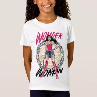 Wonder Vrouw met Grieks StammenEmbleem T Shirt
