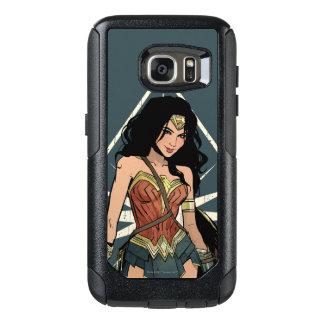 Wonder Vrouw met het Grappige Art. van het Zwaard OtterBox Samsung Galaxy S7 Hoesje