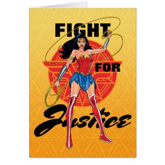 Wonder Vrouw met Lasso - Strijd voor Briefkaarten 0
