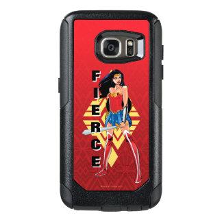 Wonder Vrouw met Woest Zwaard - OtterBox Samsung Galaxy S7 Hoesje