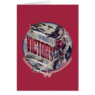 Wonder Vrouw omhoog aan Overwinning Briefkaarten 0