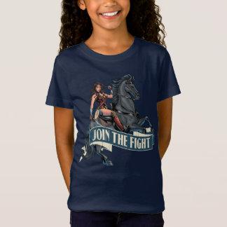Wonder Vrouw op het Grappige Art. van het Paard T Shirt