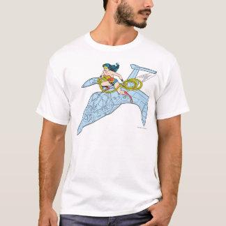 Wonder Vrouw op Ruimteschip T Shirt