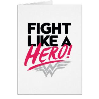 Wonder Vrouw - Strijd zoals een Held Briefkaarten 0