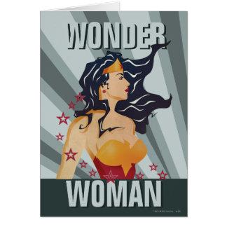 Wonder Zonnestraal van het Profiel van de Vrouw Kaart