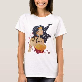 Wonder Zonnestraal van het Profiel van de Vrouw T Shirt
