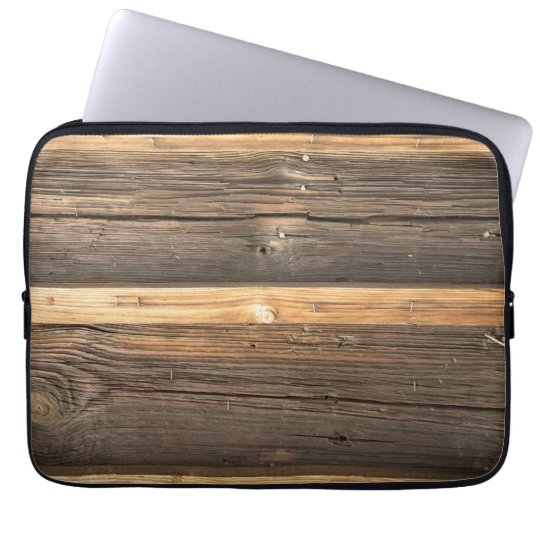 Wooden Bar Realistic Texture Laptop Sleeve