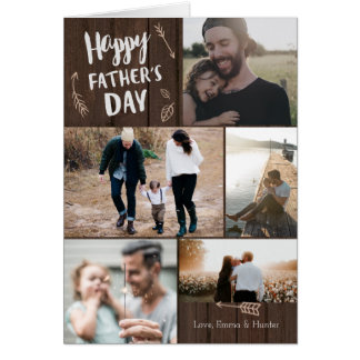 Woodsy Kaart van het Vaderdag van 5 Foto Kaart