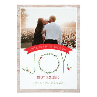 Woodsy Kerstkaart van de Vreugde van de Bessen van Kaart