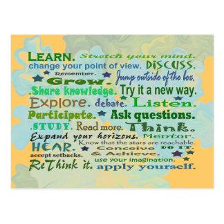 woorden van het briefkaart van de wijsheidscollage