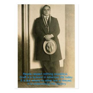 Woorden van Wijsheid van Al Capone? Briefkaart