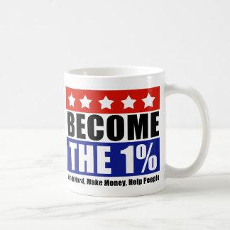 Word de Één Percenten, anti-bezet Wall Street Koffiemok