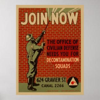 Word lid nu van de Ploegen van de Ontsmetting van Poster