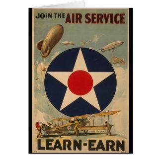 Word lid van de Dienst van de Lucht Briefkaarten 0