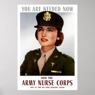 Word lid van de Korpsen van de Verpleegster van Poster