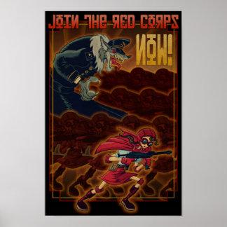 Word lid van de Rode Korpsen Poster