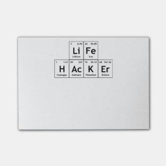 Word van de Lijst van de Elementen van de Chemie Post-it® Notes