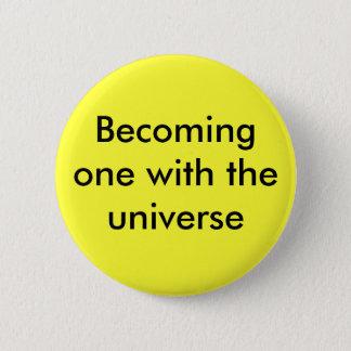 Wordend met het heelal ronde button 5,7 cm