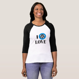 WordPress 3/4 Raglan van het Sleeve T-shirt
