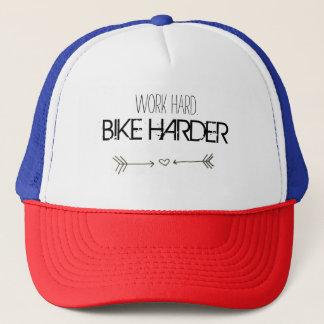 work hard. BIKE HARDER Trucker Pet