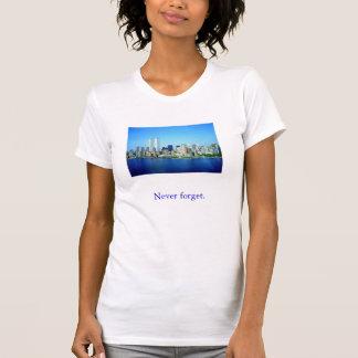 world_trade_center, vergeet nooit t shirt