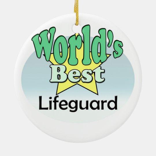 World's best Lifeguard Rond Keramisch Ornament