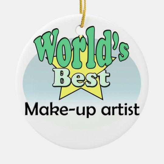 World's best Make-up artist Rond Keramisch Ornament