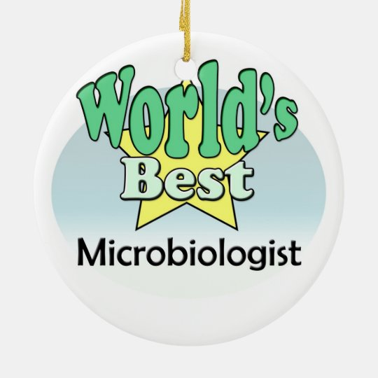 World's best Microbiologist Rond Keramisch Ornament