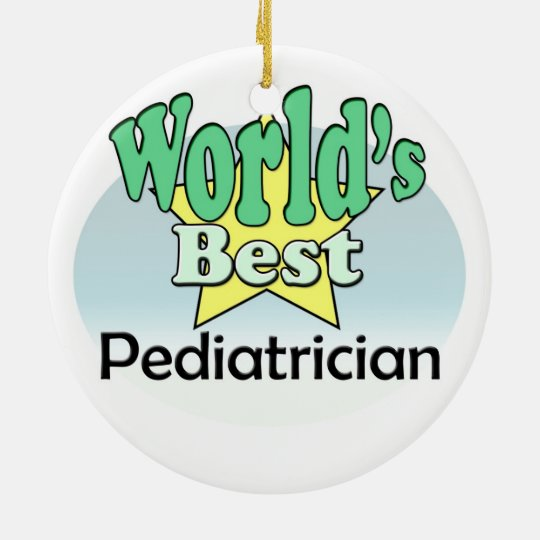 World's best Pediatrician Rond Keramisch Ornament