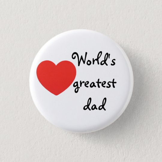 World's greatest dad ronde button 3,2 cm