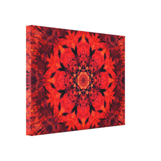 Wortel Chakra | Bloem | van Lotus Mandala Canvas Afdrukken