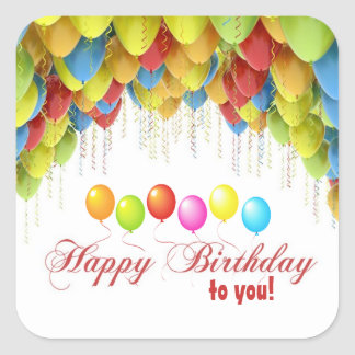 Wow van de ballon de Stickers van de Verjaardag