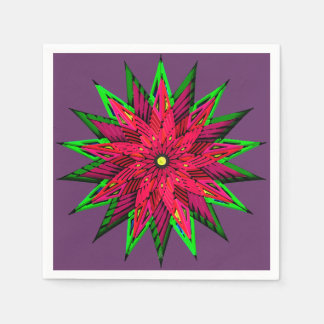 WOW van de Poinsettia van de pruim Prachtige Papieren Servet