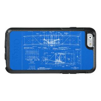 """Wright Bros. De Blauwdruk 1903 van de """"vlieger"""" OtterBox iPhone 6/6s Hoesje"""