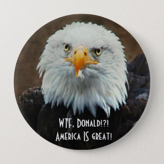 WTF Donald? Kaal Eagle Ronde Button 4,0 Cm