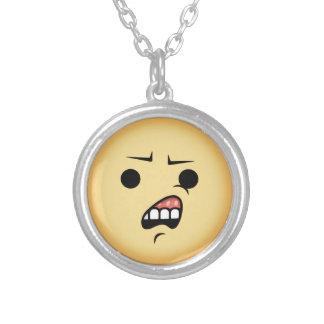 WTF Emoji Zilver Vergulden Ketting