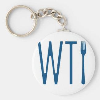 WTF - wat de Koopwaar van de Humor van de Vork Sleutelhanger